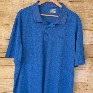 Under Armour shirt mean 2xl loose heat gear blue